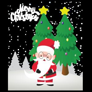 Weihnachtsmann wünscht Merry Christmas