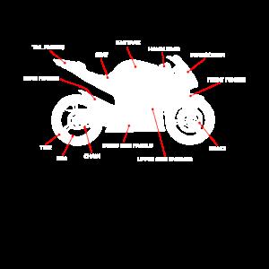 Motorrad Anatomie Rennmaschine