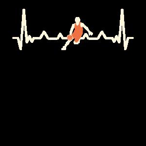 Basketball Herzschlag - EKG Puls Fans Spieler