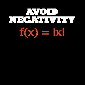 Funny - Avoid negativity math equation