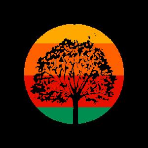 Abstrakt Retro Baum Design
