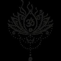 Lotus Blume, lotus flower, black version