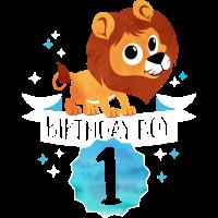 Birthday Boy ein Jahr -1. Geburtstag-Geschenk Löwe
