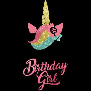 Birthday Girl-Mädchen Geburtstag Geschenk Einhorn