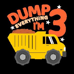 I'm 3 Truck 3.Geburtstag LKW Jungen Drei