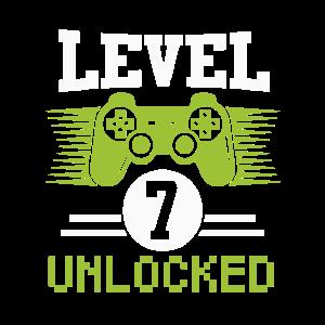 Level 7 Unlocked Gaming Geburtstagsshirt 7 Jahre
