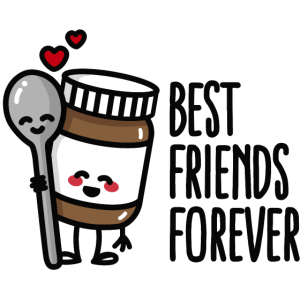 Best friends forever chocolate spread / spoon BFF