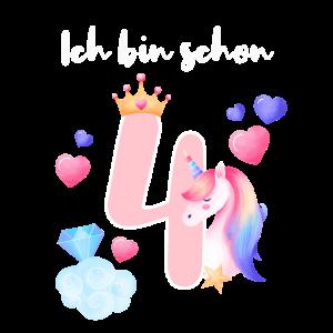 Ich bin schon 4. Einhorn Prinzessin Geburtstag 4