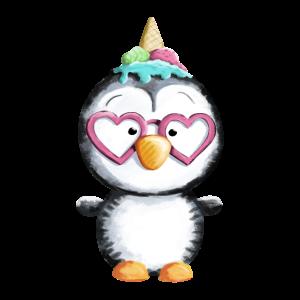 Pinguin mag Eis - Einhorn  - Pinguine - Eiscreme