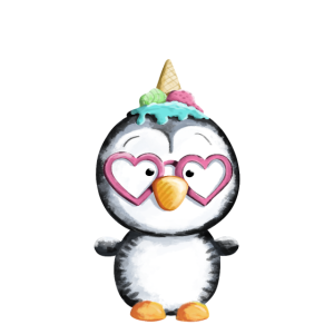 Be A Unicorn - Pinguin - Eis - Einhorn - Eiscreme