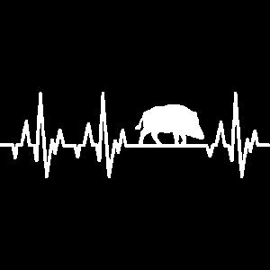 Wildschwein Wildsau Herzschlag