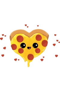 Pizza is love Pizza is life - Salami Pizza Liebe