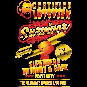 "Funny Lutefisk Shirt ""Lutefisk Survivor"""