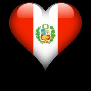 peruanische Herz-Peru-Flagge