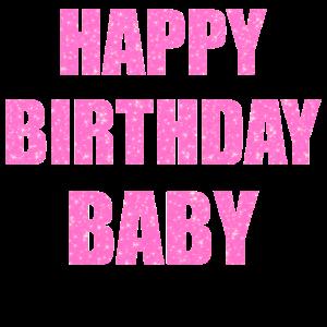 Rosa Glitzer Happy Birthday Baby Funkeln Geschenk