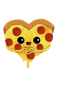Pizza heart - love mother's day gift sweet child