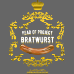 Funny BBQ Shirt Head of Project Bratwurst