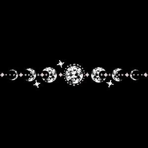 Mondphasen mit Sternen Mond Diamanten