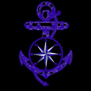 Anker Maritim Seefahrt Kompass
