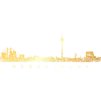 Düsseldorfer Skyline Düsseldorf (Vintage Gold)