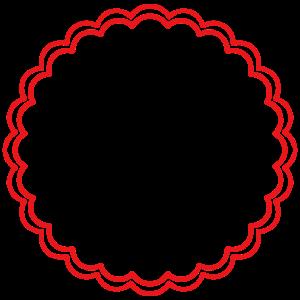 Form Kreis Nostalgie rot