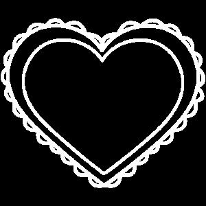 Herz Ornament weiss