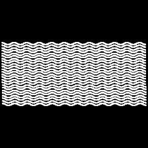Linien Wellen weiss
