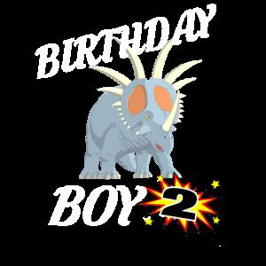 2 Jahre alte Geburtstags-ShirtDinosaurier-Geschenk-Entwurf