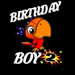 2 Jahre alte Geburtstag ShirtParrot GifDesign