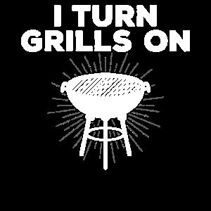 Lustiger Grillentwurf für Männer, die ich Grills einschalte