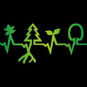 Natur Herzschlag, Wald EKG