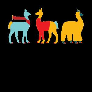 Lama-niedliches buntes