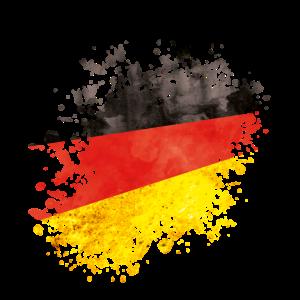 deutschland farbklecks