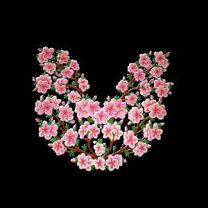 Kirschbluetenzweig, handgemalt