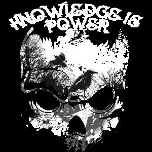 Hugin Munin Spruch wissen ist Macht Skull Schädel