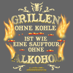 "cooles Grillshirt ""Grillen ohne Kohle"""