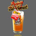 "Funny Beer Shirt Design ""Project Blackout"""