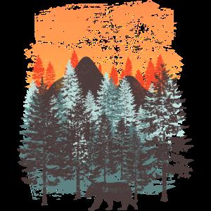 Wald Landschaft (Bär)