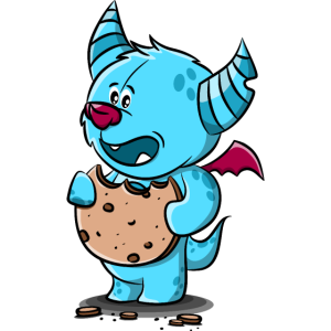 Monster mit Keks