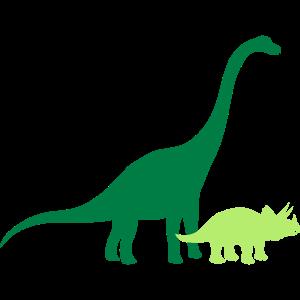 Diplodocus langhals groß riesig Triceratops paar p