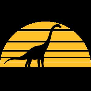 sonne abends sonnenaufgang Diplodocus langhals gro