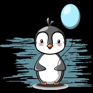 Pinguin Junge mit Ballon
