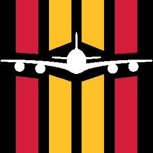 ★ Designfarben änderbar ★ Flugzeug vor 4 Streifen