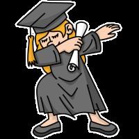 Dab dabbing Mädchen Student dab Abschluss Schule