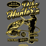 "Cooles Anglershirt ""World Class Pike Hunter"""