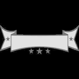 edel sterne verziert geschwungen banner design log