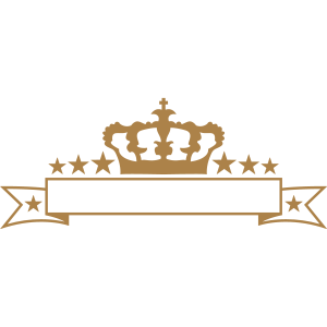 prinz krone könig sterne royal verziert geschwunge