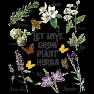 Plant Herbs Art Gardening Gift