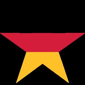 clipart stern 3 farben deutschland nation schwarz