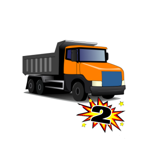 2 Jahre alte Geburtstag ShirtDumptruck GifDesign
